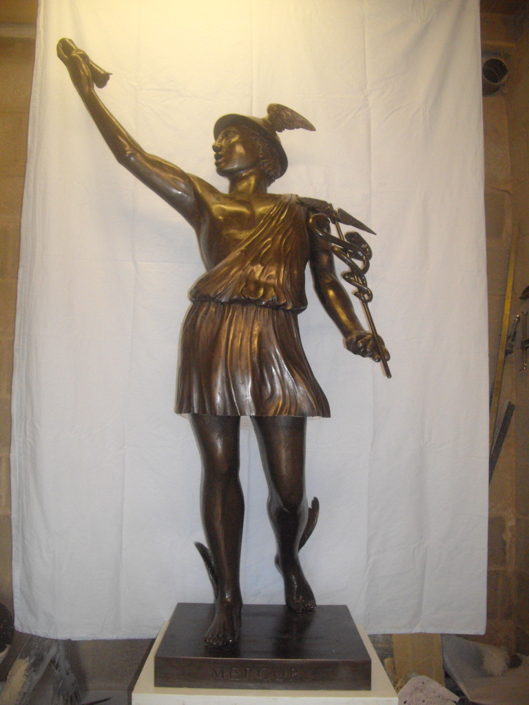 Mercury Statue by Barry Davies, Sculptor