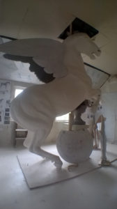 Pegasus - Fame Statue WIP by Barry Davies